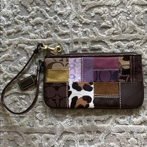 Coach Patterned Wristlet